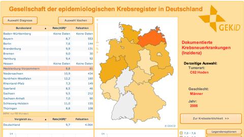 Krebsatlas Deutschland